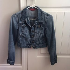 Size small cropped denim jacket